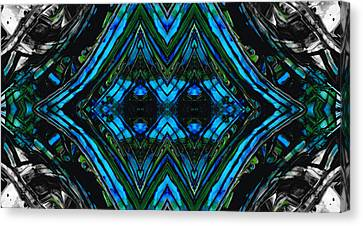 Patterned Art Prints - Cool Change - By Sharon Cummings Canvas Print