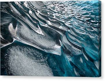 Patterns In Ice Canvas Print by Timm Chapman