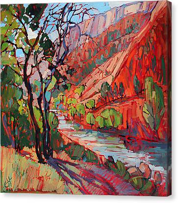 Southern Utah Canvas Print - Patterns In The Shade by Erin Hanson