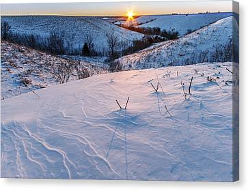 Canvas Print featuring the photograph Patterns In The Snow by Scott Bean