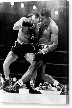 Patterson And Johansson Boxing Canvas Print