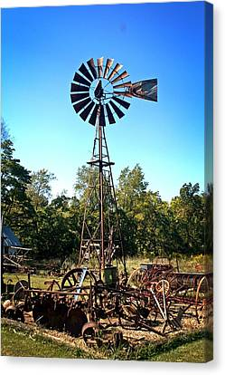 Patterson Windmill Canvas Print by Marty Koch