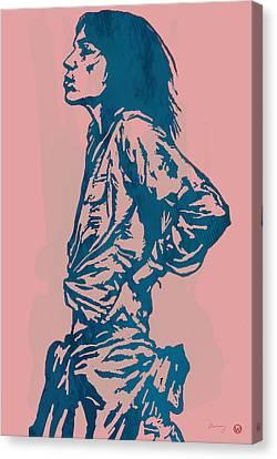 Patti Smith Amsterdam 1976 Pop Art Poster Canvas Print by Kim Wang