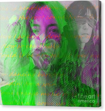 Patti Smith Dancing Barefoot Canvas Print