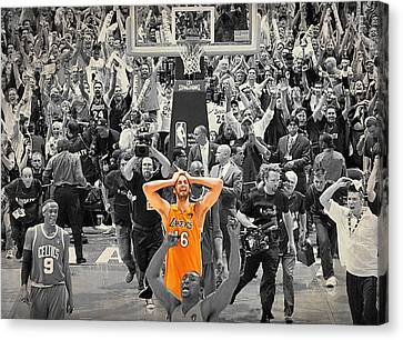 Pau Gasol Canvas Print by Brian Reaves