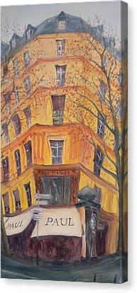 Boulangerie Canvas Print - Paul, 2010 Oil On Canvas by Antonia Myatt