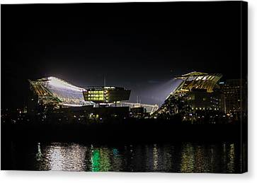 Paul Brown Stadium Canvas Print by Cathy Donohoue