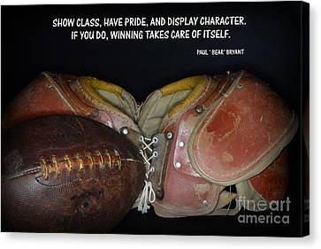 Paul Bryant On Football Canvas Print by Paul Ward