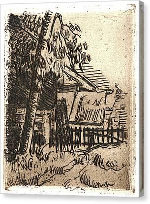 Paul Cézanne French, 1839 - 1906. Landscape In Auvers Canvas Print