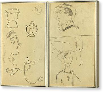 Paul Gauguin French, 1848 - 1903, A Caricature And Five Canvas Print