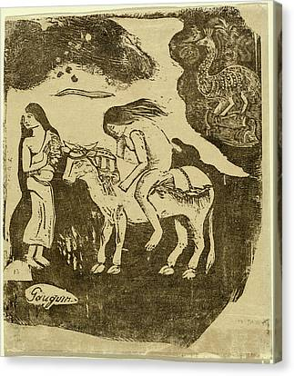 Enlevement Canvas Print - Paul Gauguin, French 1848-1903, The Rape Of Europa by Litz Collection