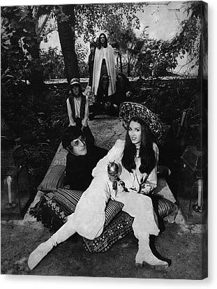 Paul Getty Jr With His Wife Talitha Canvas Print by Patrick Lichfield