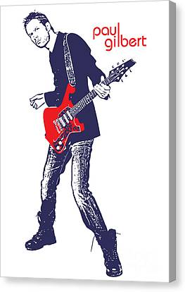 Paul Gilbert No.01 Canvas Print by Caio Caldas