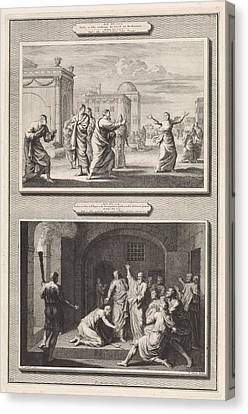 Dwell Canvas Print - Paul Healed A Possessed Woman And The Conversion by Jan Luyken And Hendrik Elandt And Bernard Picart