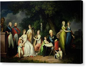 Paul I 1754-1801, Maria Feodorovna 1759-1828 And Their Children, C.1800 Oil On Canvas Canvas Print by Franz Gerhard von Kugelgen