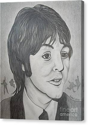 Paul Mccartney 2 By Richard Brooks. Canvas Print