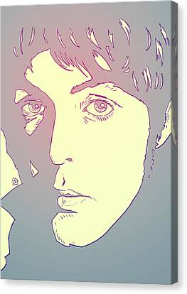 Icon Canvas Print - Paul Mccartney by Giuseppe Cristiano