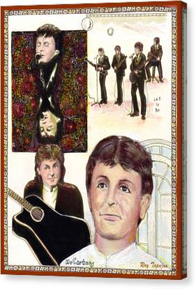 Let It Be Paul Mccartney Canvas Print by Ray Tapajna