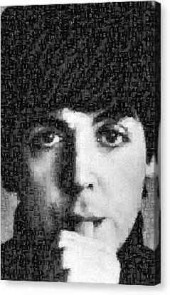 Paul Mccartney Mosaic Image 5 Canvas Print