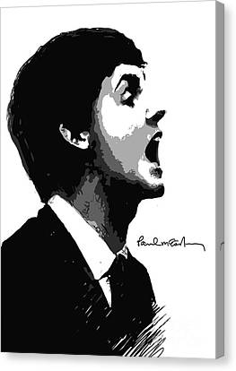 Paul Mccartney No.01 Canvas Print by Caio Caldas