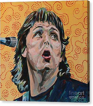Paul Mccartney Portrait Canvas Print by Robert Yaeger