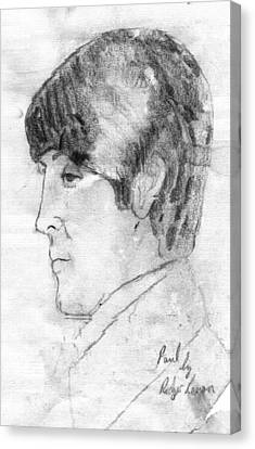 Paul Mccartney Profile Canvas Print by Rodger Larson