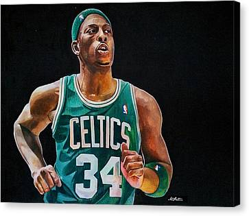 Paul Pierce - The Truth Canvas Print by Michael  Pattison