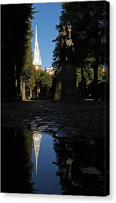 Paul Revere And The Old North Church Canvas Print by Juergen Roth