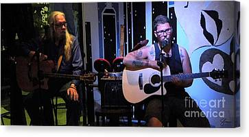 Paul Stephen Wilson And Jj Roetting Duet Canvas Print by Shawn Lyte