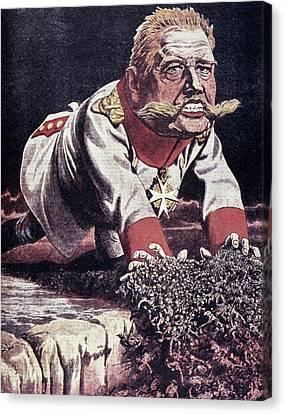 Paul Von Hindenburg (1847-1934) Canvas Print by Granger