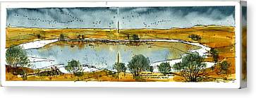 Canvas Print featuring the mixed media Paul's Lake by Tim Oliver