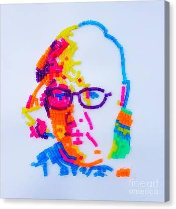 Paul's Portrait Canvas Print by PainterArtist FINs husband Maestro