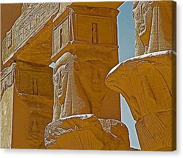 Pavilion Of Nectanebo I Dedicated To Hathor On Philae Island Near Aswan-egypt  Canvas Print by Ruth Hager