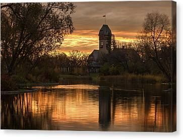Pavilion Sunrise Canvas Print by Stuart Deacon