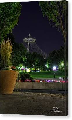 Pavillion At Night Canvas Print by Dan Quam