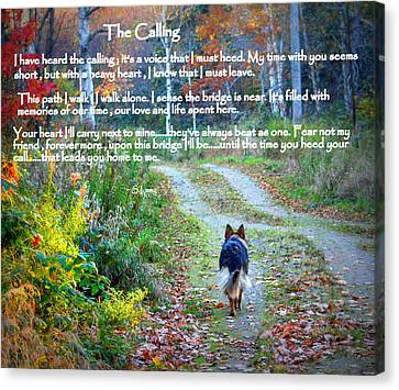 Calling Canvas Print - Paw Prints The Calling by Sue Long