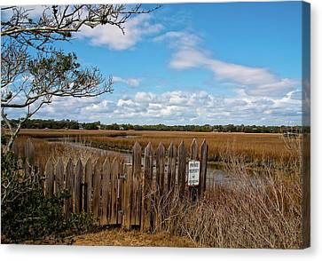 Pawley's Picket Fence Canvas Print by Sandra Anderson