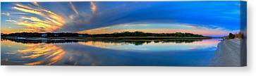 Pawlwys Island Sunset Canvas Print by Ed Roberts