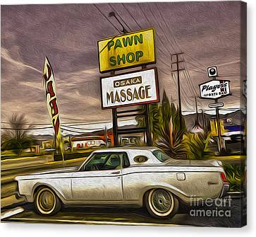 Pawn - Pool - Massage Canvas Print by Gregory Dyer