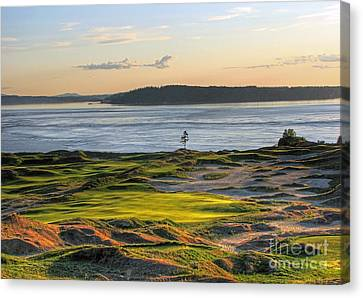 Canvas Print featuring the photograph Pax - Chambers Bay Golf Course by Chris Anderson