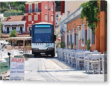 Paxos Island Bus Canvas Print