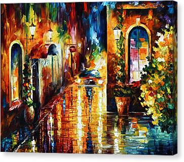 Paying A Visit New Canvas Print by Leonid Afremov