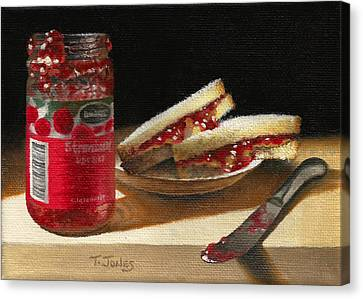 Pb And J 2 Canvas Print by Timothy Jones