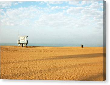 Pch Lifegaurd Station Canvas Print by Ari Jacobs
