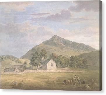 Haymaking At Dolwyddelan Canvas Print by Paul Sandby