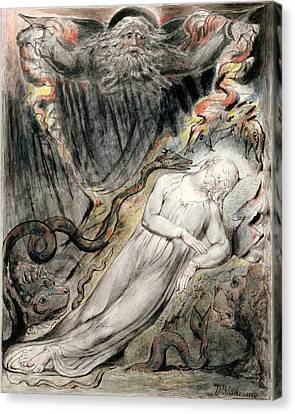 Pd.20-1950 Christs Troubled Sleep Canvas Print by William Blake