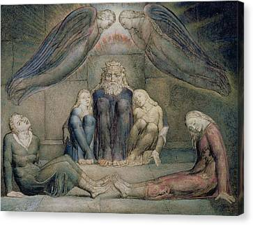 Pd.5-1978 Count Ugolino And His Sons Canvas Print by William Blake