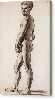 Male Nude Canvas Print by Paul Cezanne