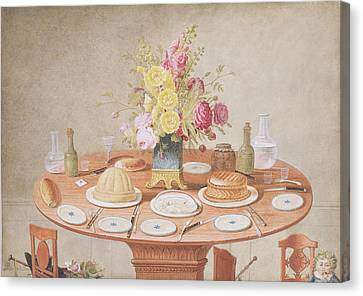 Pd.869-1973 Still Life With A Vase Canvas Print