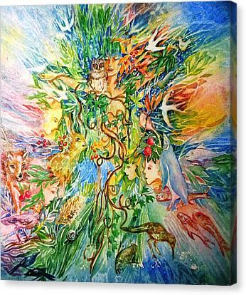 Peacable Kingdom No.2 Canvas Print by Trudi Doyle